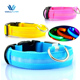 Hot Selling Wholesale Custom Reflective Waterproof Nylon Led Dog Collar