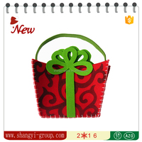 XM9-09 Christmas crafts & gifts kids felt gift bag/recycled christmas decoration