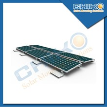Flat roof solar mounting, ballasted triangular kit