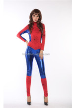 Latest Elasticity Halloween Spider-Man Cosplay Costume Hot Body Tight Leotard Costume Lingerie for Women