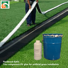 Polyurethane glue solvent free green color for artificial grass installation