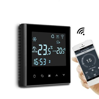 Electronic Room Wifi Thermostat Programmable For Heat Cool And Fan Speed Control