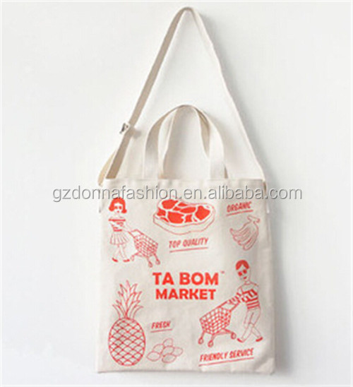 New Arrival Wholesale Custom Cotton Canvas DNBG3SB0044 Tote Bags