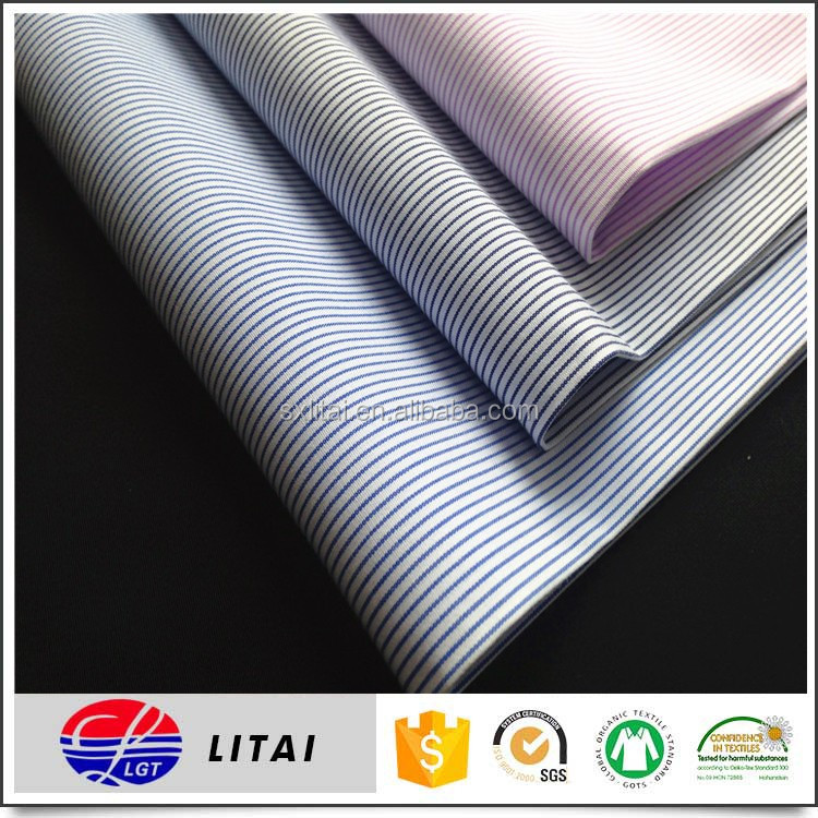 bamboo material, stripe shirt fabric in shaoxing