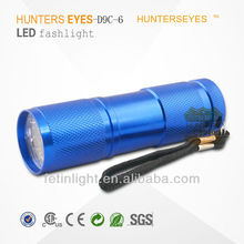 9 Led 390nm-365nm Purple light uv Flashlight, uv Blacklight Flashlight Urine Detector, uv led Torch