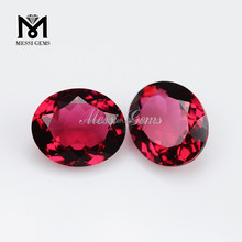 Wholesale Loose Glass Gemstone Oval 8 x 10mm Rubellite Synthetic