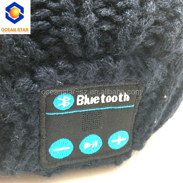 2016 New Winter Fashion knitted Bluetooth beanie hat