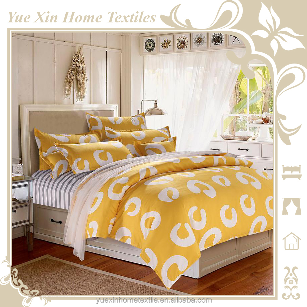 100% Microfibre Polyester Duvet Cover Sets Bed Sheet Sets with Tropical Printing Customized