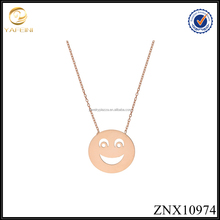 Yiwu Jewelry Smiling Children Face Pendant Necklace 925 Sterling Silver Jewelry Manufacturer China