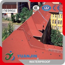 Liquid asphalt roofing materials and colorful stone-coated steel roof tiles