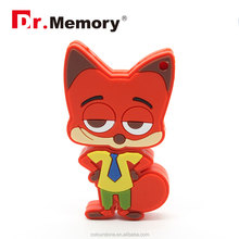 Dr.memory Zootopia Nick wilde USB lfash drive,Cartoon usb memory cards 2.0 usb gedget for kids/gift