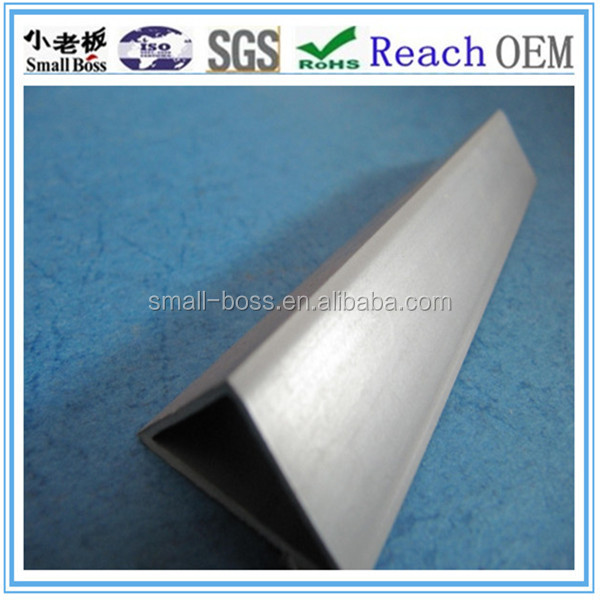 pvc chamfer profile with edge for wall