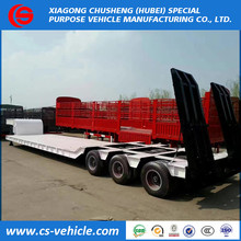 factory selling loading heavy machine 60 tons lowbed Trailer 50 tons lowbed semi trailer