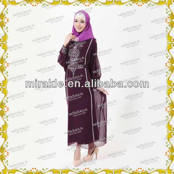 MF17160 Latest ABAYA embroidery designs for Muslim women