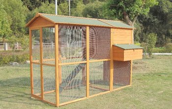 Wooden Chicken Coop With Large Run,Solid Wood