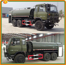 CLW Dongfeng 6x6 off-road Water tank vehicle all wheel drive Water bowser tank Truck 15 m3 15000L 15tons off-road washing truck