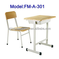 Old type school desk and chair for secondary school FM-A-301
