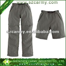Two kinds of wear method 100%polyester quick dry detachable couple models gray Sports pants