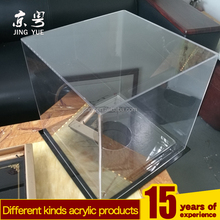 Clear black base and clear cover pmma plexiglass golf ball display box acrylic golf baseball ball display case
