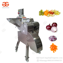 Electric Food Eggplant Cassava Yam Chips Onion Carrot Cube Black Pepper Cutter Fruit Apple Banana Leaf Cutting Machine