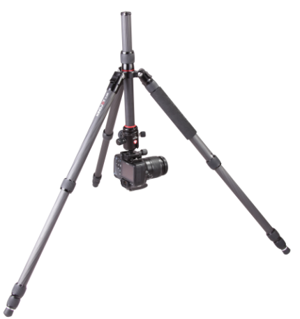 Kingjoy compact light weight carbon fiber digital camera tripod kit K1208+<strong>Q10</strong> for film photography