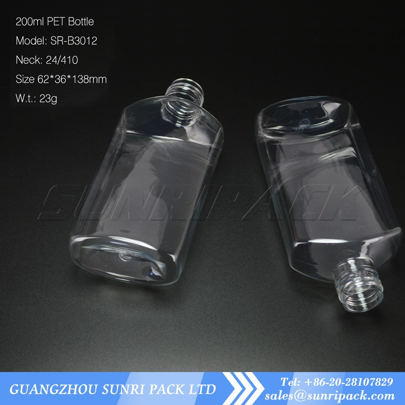 hot sale 200ml oval plastic bottle for shampoo with pump dispenser