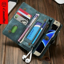 Newest classical design leather case for samsung galaxy s7, soft leather phone case for samsung s7