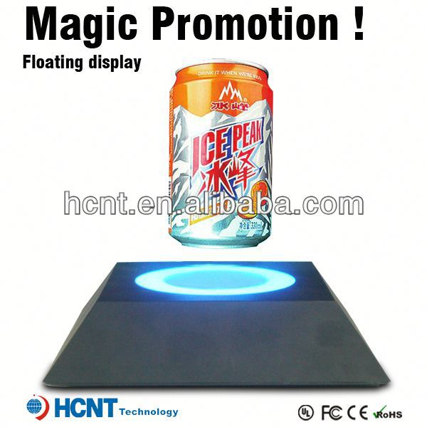 Most Attractive ! Magnetic Floating display stand for plastic bottle ,bottled sangria
