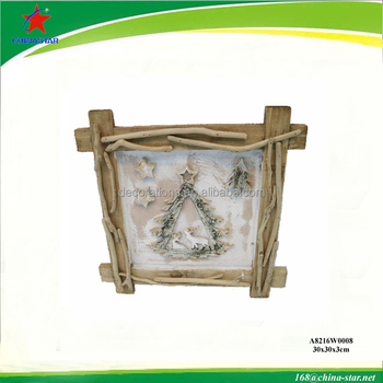 wooden christamas wall decorative frame