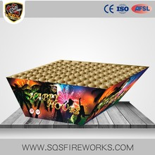 Celebration X shaped colorful tail colorful peony Chinese cake fireworks