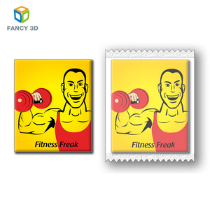 Zebulun Collectible Fitness Pattern Plastic 3D Lenticular Supermarket Promotion Cards