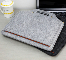 2017 new Alibaba felt laptop bag for apple laptop messenger case