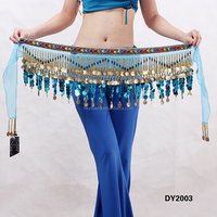 stelisy belly dance belt with blue sequin DY2003