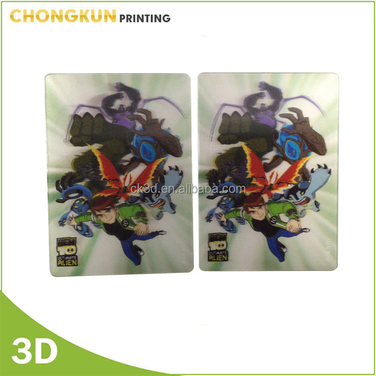 Promotinal hot sell Motion Moving different image change 3D lenticular card