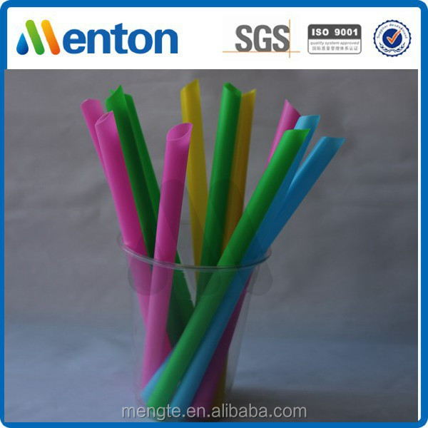 colorful big plastic drinking straw