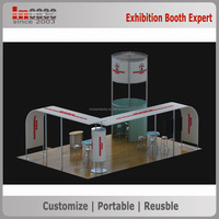 Durable aluminum truss frame exhibition trade show booth stand design