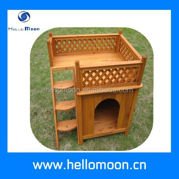 Wholesale Lovely Wooden Dog House With Balcony