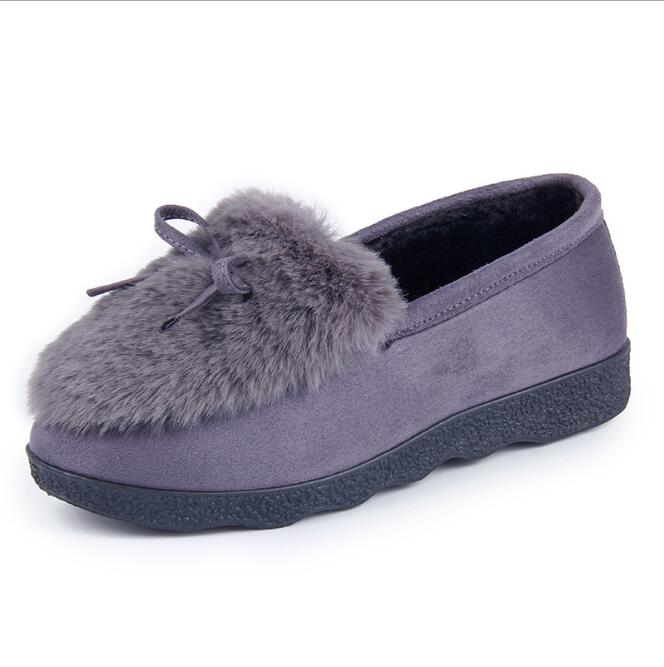 zm53164a moq 5 pairs ladies warm winter shoes woman casual flat shoes with fur