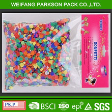 China manufacturer made round colorful paper confetti