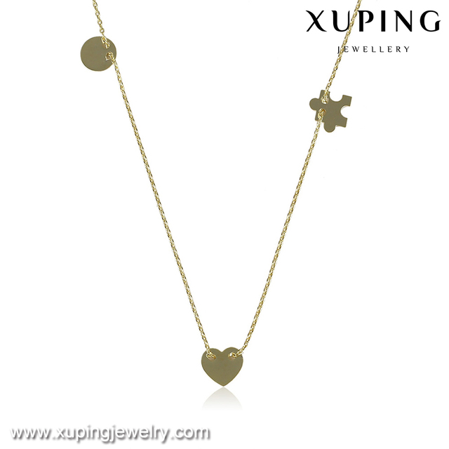43334-trendy fashion jewelry 14k gold funky chain necklace