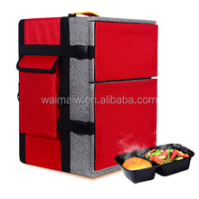 45L pizza cooller backpack food transfer delivery bag scooter cooler bag