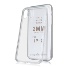 transparent tpu 2mm case for iphone x, for iphone x clear case, for iphone x soft tpu case