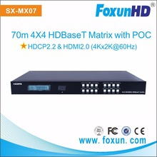 4x4 4K POC 70m HDBaseT HDMI Matrix with RS232 , IP control
