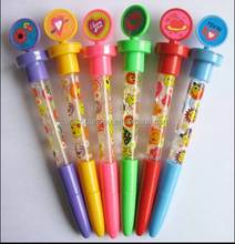 bubble pen with customized stamp and logo