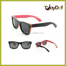 Fashion Designer Sunglasses/eyeglsses Wooden Sunglasses colorful black and red frame wood sunglasses