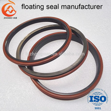 DO style Zhono floating oil seal kit with rubber O ring for excavator