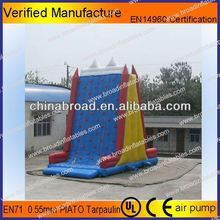 Durable climbing,inflatable wall, pvc inflatable air mountain with safety belt
