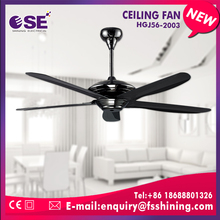 home appliances waterproof black decorative ceiling fan with remote control