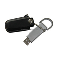 promo new product leather usb flash drive with keychain