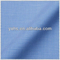 100% cotton poplin yarn dye checked fabric